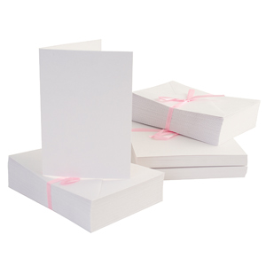 C6 CARD ENVELOPE PACK WHITE