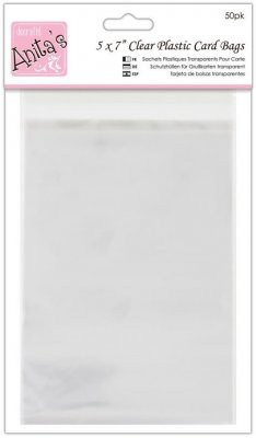 "Docrafts 5""x7'' Clear Card Bags (50 pack)"