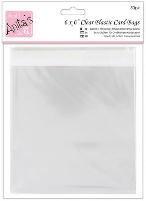 "Docrafts 6""x6'' Clear Card Bags (50 pack)"