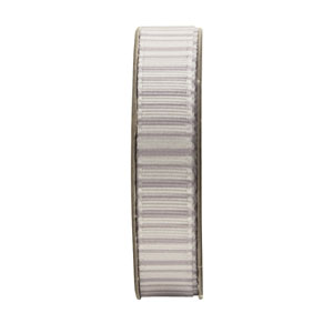 1.5m RIBBON - STRIPES - SILVER
