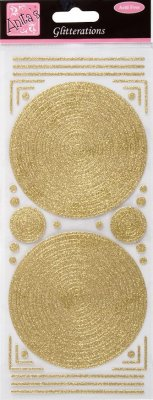 GLITTERATIONS - FRAMES CIRCLE - GOLD