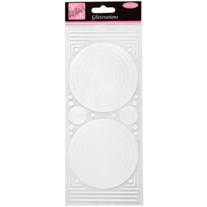 GLITTERATION FRAMES CIRCLE - WHITE