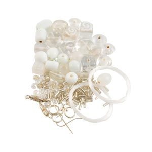 GLASS JEWELLERY BEAD SET - QUARTZ