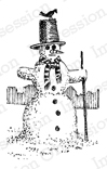 Impression Obsession Rubber Stamp - Single Snowman