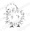Impression Obsession Cling Rubber Stamps - Fuzzy Chick