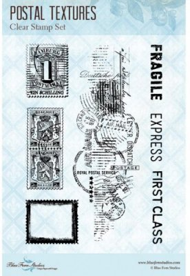Blue Fern Studios Clear Stamp Set - Postal Textures