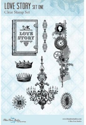 Blue Fern Studios Clear Stamp Set - Love Story 1