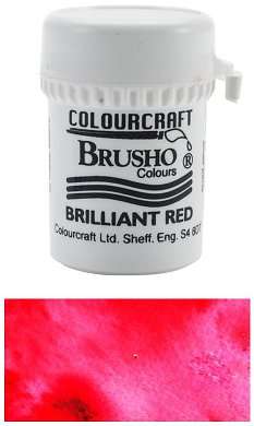 Brusho Crystal Colour - Brilliant Red