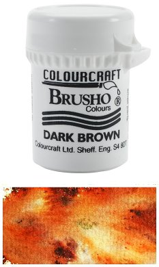 Brusho Crystal Colour - Dark Brown