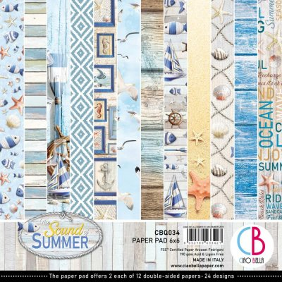 "Ciao Bella 6""x6"" Scrapbooking Creative Paper Pad - Sound Of Summer (24 sheets)"