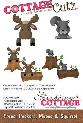 CottageCutz Dies - Forest Peekers Moose & Squirrel