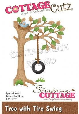 CottageCutz Dies - Tree with Tire Swing