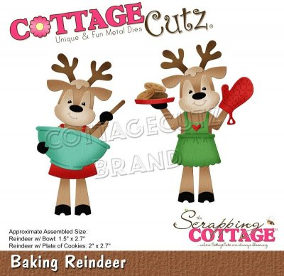 CottageCutz Dies - Baking Reindeer