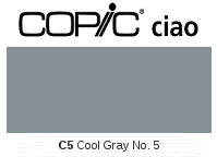 C5 Cool Gray No. 5 - Copic Ciao Marker