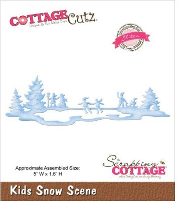 CottageCutz Dies - Kids Snow Scene