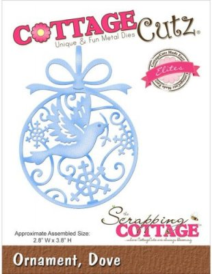 CottageCutz Dies - Dove Ornament