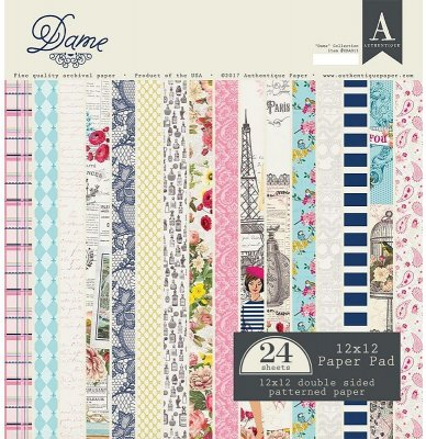 "Authentique - 12""x12"" Dame Bundle double-sided Paper Kit (24 sheets)"