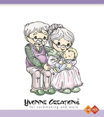 Yvonne Creations Clear Stamps - Grandparents