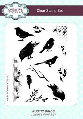 Creative Expressions A5 Clear Stamp Set - Rustic Birds