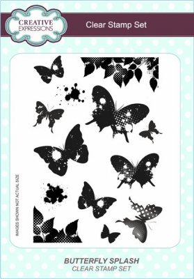 Creative Expressions A5 Clear Stamp Set - Butterfly Splash