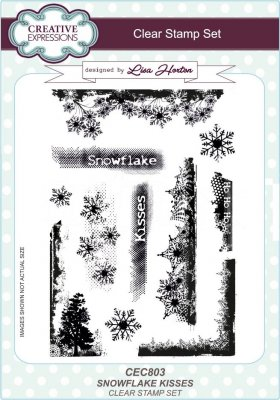 Creative Expressions A5 Clear Stamp Set - Snowflake Kisses
