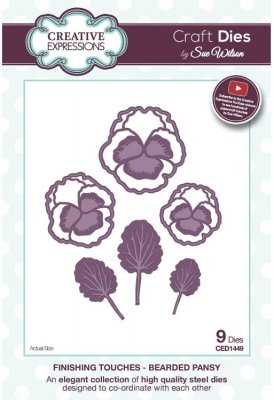 Creative Expressions Dies by Sue Wilson - Finishing Touches Collection Bearded Pansy Die (9 dies)