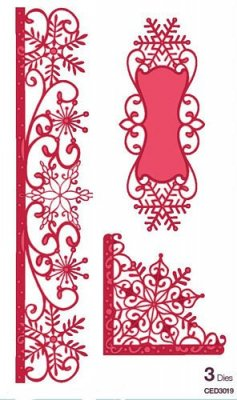 Creative Expressions Dies by Sue Wilson - Festive Collection Snowflake Corner Border and Tag (3 dies)