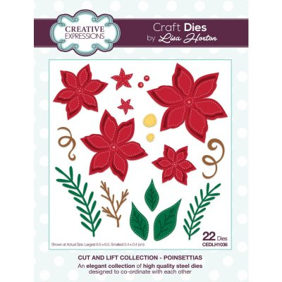 Creative Expressions Cut & Lift Die Collection - Poinsettias