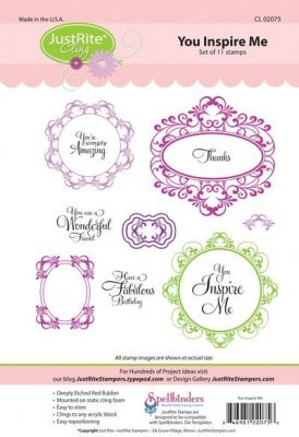 Justrite Cling Stamp Set - You Inspire Me (11 stamps)