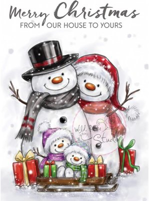 Wild Rose Studio Clear Stamps - Snowman Family