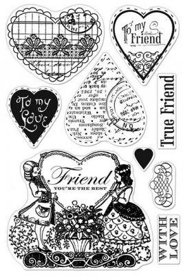 Hero Arts & Basic Grey Clear Stamp Set - Friend You´re the Best