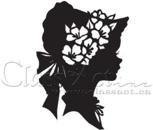 Class Act Cling Mounted Rubber Stamp - Girl Bonnet