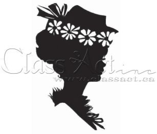 Class Act Cling Mounted Rubber Stamp - Girl with Hat