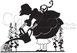 Class Act Cling Mounted Rubber Stamp - Garden Girl