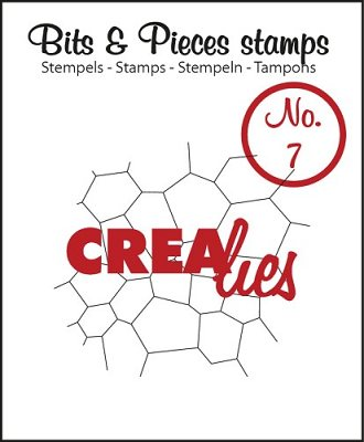 Crealies Clearstamp Bits&Pieces no. 07 Thin Mosaic