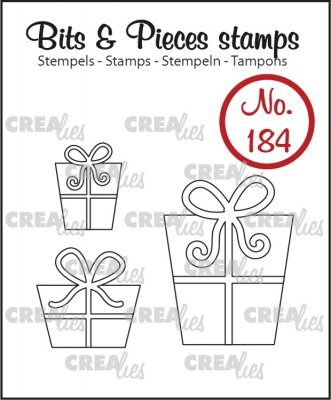 Crealies Clearstamp Bits & Pieces - 3x Presents