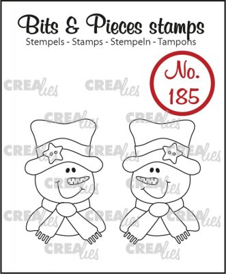Crealies Clearstamp Bits & Pieces - 2x Snowman
