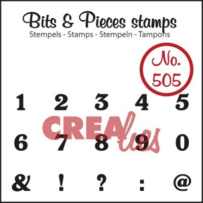 Crealies Clearstamp Bits&Pieces no. 505 numbers