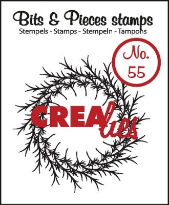 Crealies Clearstamp Bits&Pieces no. 55 Wreath