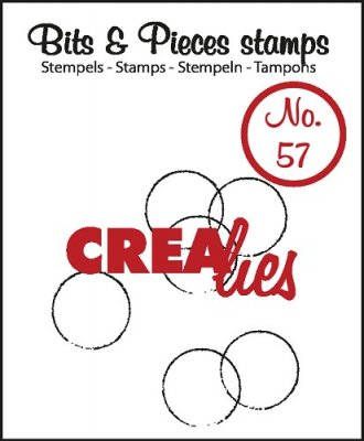 Crealies Clearstamp Bits&Pieces no. 57 Grunge Circles