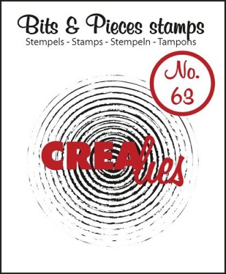 Crealies Clearstamp Bits&Pieces no. 63 Grunge circles in circles