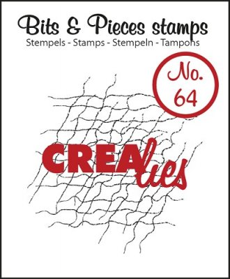Crealies Clearstamp Bits&Pieces no. 64 Messy fibers