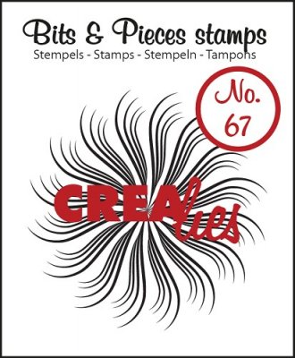 Crealies Clearstamp Bits&Pieces no. 67 Circle of swirls B