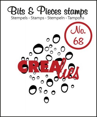 Crealies Clearstamp Bits&Pieces no. 68 Drops