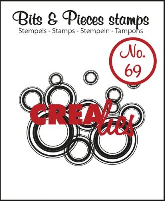 Crealies Clearstamp Bits&Pieces no. 69 Lots of circles