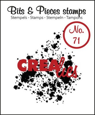 Crealies Clearstamp Bits&Pieces no. 71 Ink splashes bold