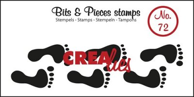Crealies Clearstamp Bits&Pieces no. 72 Footprints