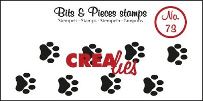 Crealies Clearstamp Bits&Pieces no. 73 Paws cat/dog