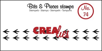 Crealies Clearstamp Bits&Pieces no. 74 Paws bird