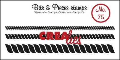 Crealies Clearstamp Bits&Pieces no. 75 Rope, 3 sizes